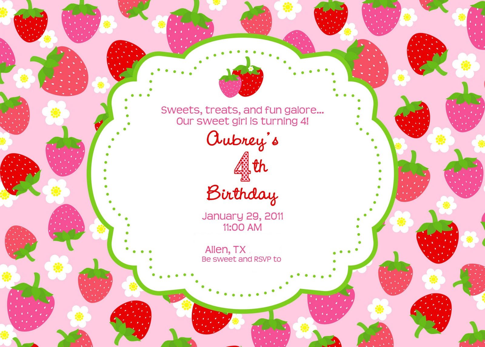 Strawberry Shortcake Party – Giggles Galore