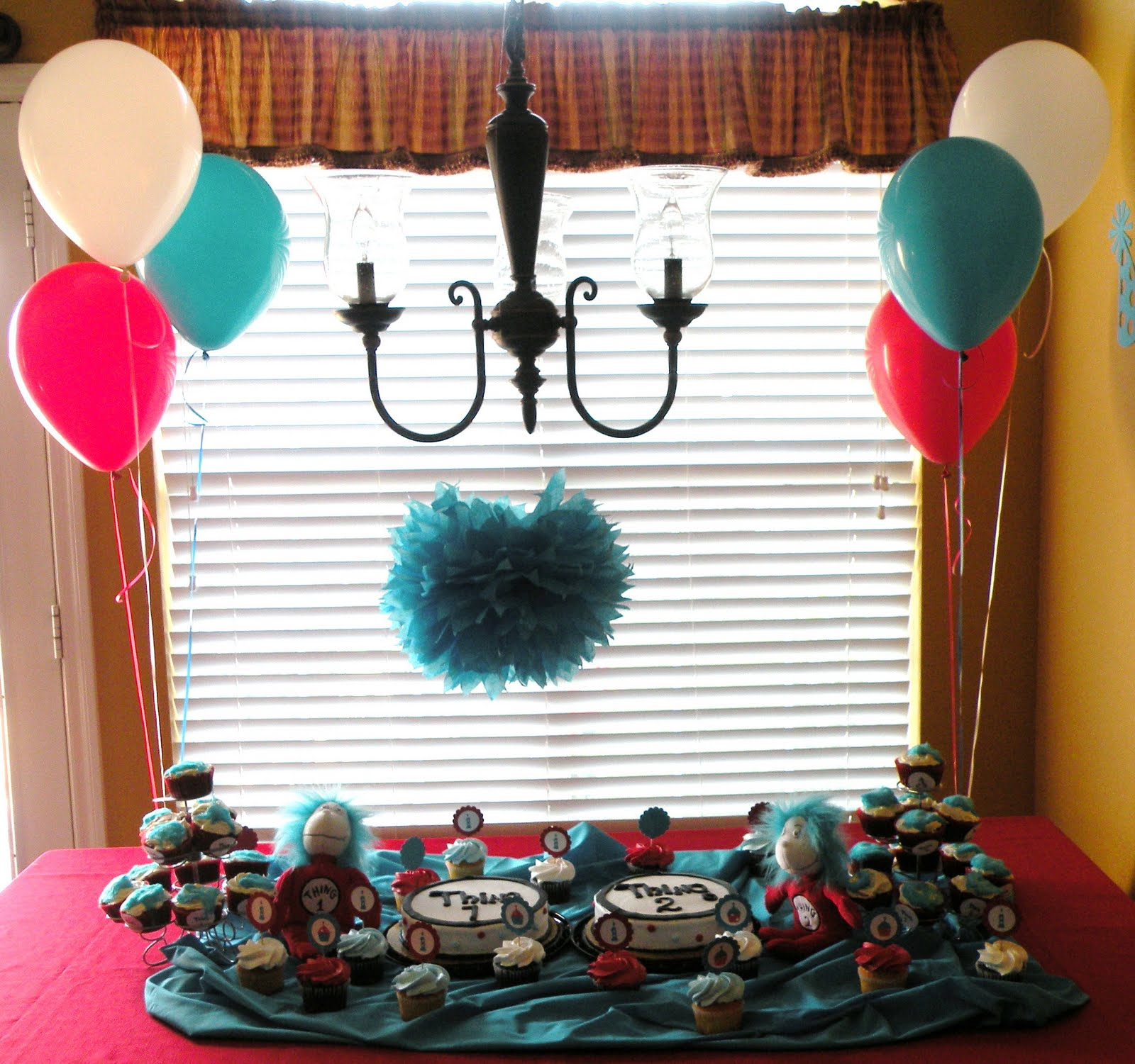 Dr. Seuss Thing 1 & Thing 2 Birthday Party - Giggles Galore