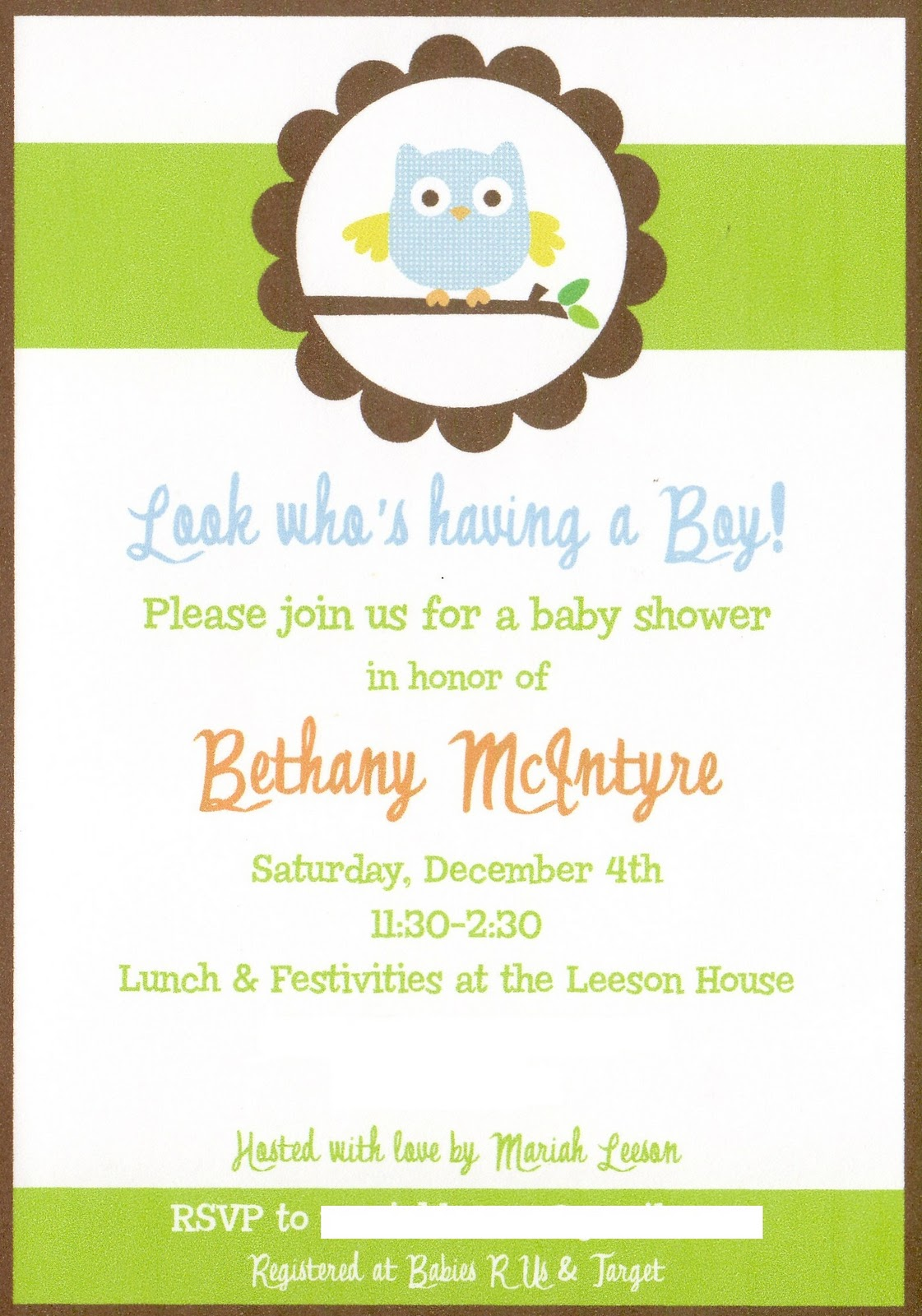 owl baby shower  giggles galore, Baby shower invitations